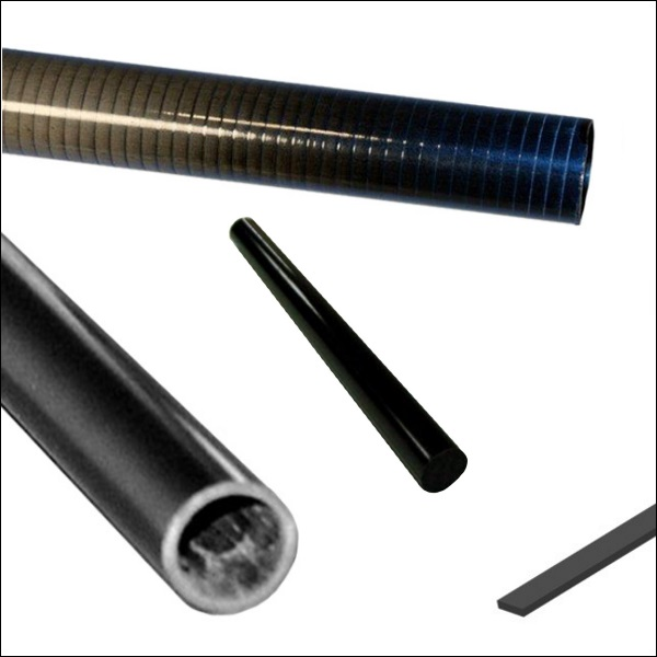 Carbon Fiber Rods and Tubes, Unidirectional